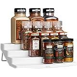 YouCopia 01241-01 Spicesteps 4-Tier Kitchen Cabinet Spice Shelf Organizer, 24-Bottle, White