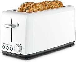 Kambrook KTA120WHT Wide Slot Toaster, White