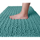 Yimobra Original Luxury Chenille Bath Mat, 24 x 17 Inches, Soft Shaggy and Comfortable, Large Size, Super Absorbent and Thick