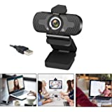HD Webcam 1080p with Privacy Cover,Eocean Webcam with Microphone,Web Cam (30fps) for Desktop Laptop Computer,Web Camera with