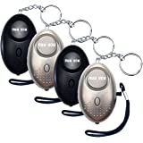 Nuu You Personal Alarms for Woman Siren 140 DB with LED Light (4 Pack) Small Safety Sound Alarm Keychain for Personal Alarm W