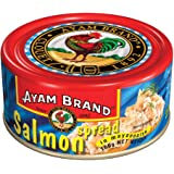 Ayam Brand Salmon Spread | Made from High Quality Salmon | Mixture of Fish & Vegetables with Mayonnaise | Great Taste | Omega