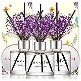 Cocod'or Mini Flower Diffuser/Garden Lavender/1.6oz(50ml)/3Pack/Diffuser Oil Sticks Gift Set, Home & Car Diffuser