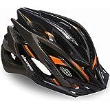 Shinmax 自転車 ヘルメット 大人 CPSC認定済み LEDライト付 ロードバイクヘルメット 57cm~62cm 軽量 虫対策 サンバイザー 着脱可能 男性 女性 サイクリング 山地 ロード オフロード MTB 通気性 高剛性 調整可能 M/L