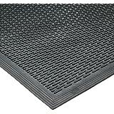 """Rubber-Cal 03-239-LI DuraScraper Linear Commercial Rubber Entrance Door Mat, 3/8"""" Thick x 36"""" x 60"""", Black"""