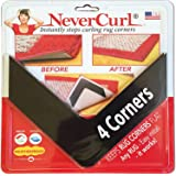 NeverCurl Best V Shape Design to Instantly Stops Rug Corner Curling. Safe for wood floors. For Indoor & Outdoor Rugs. Not an