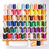 Simthread Polyester Embroidery Machine Thread 63 Colors for Brother Babylock Janome Singer Pfaff Husqvarna and Bernina Machin
