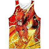 The Flash DC Comics Superhero Lightning Dash Front/Back Print Tank Top Shirt