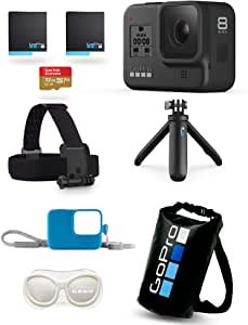 【GoPro公式限定】 GoPro HERO8 Black 限定ボックス + スリーブ(青)+ランヤード + GoPro公式ストア限定非売品 メガホルダー(白) & ドライバッグ 【国内正規品】