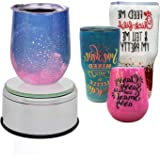 Cup Display Stand Turner for Tumblers, USLINSKY Battery/USB Operated 360 Degree Rotating Display Base, Electric Cup Spinner M