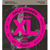 D'Addario ダダリオ ベース弦 ハーフラウンド/ピュアニッケル Long Scale .045-.100 ENR71 【国内正規品】