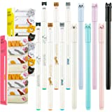 12 Pieces Cute Cat Pens Cats Design Gel Ink Pens Kawaii Writing Pen and 320 Pieces Cute Cat Sticky Notes Page Bookmarks Flags