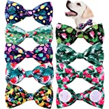 """Spring Summer Dog Collar Attachment Bows Slide Fruit Hawaiian Styles Dog Bowtie 3.7"""" Double Layered Dog Bows Removable pet Gr"""