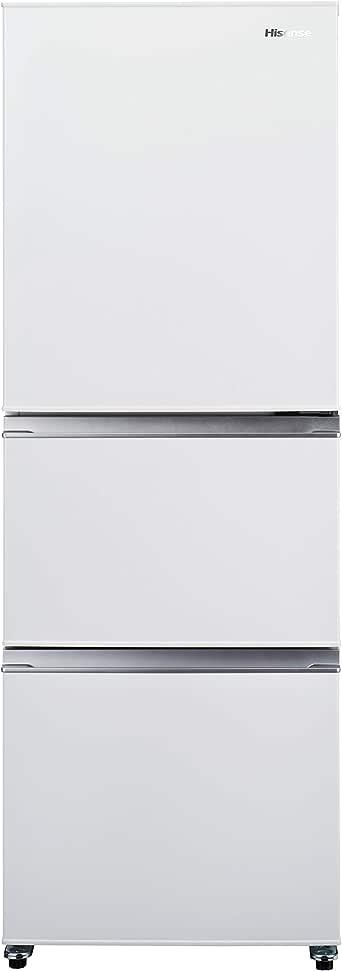 ハイセンス 冷凍冷蔵庫(幅55.4cm) 282L 自動霜取機能付き 3ドア 右開き ホワイト HR-D2801W