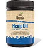 13 Seeds Hemp Seed Oil 240 Capsules: Natural Inflammation Pain Relief, Heart, Brain, Cold-Pressed, Omega 3 and 6, Zinc, Iron,