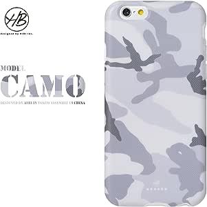 &y アンディ 【NEW モデル】 HB iPhone6 6s 対応 4.7インチ ソフトTPUケース マットタイプ WHITE CAMO カモフラージュ 迷彩 白 (HB031)