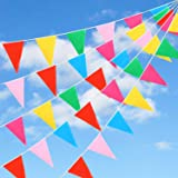 GWHOLE 12M Bunting Banner Outdoor PVC Pennant Banner for Birthday Party Wedding Home Decorations - 36 Flags