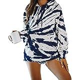 BIUBIU Women's Casual Color Block Long Sleeve 1/4 Zip Pullover Loose Lightweight Tops Sweatshirts with Pocket