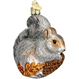 Old World Christmas Ornaments: Hungry Squirrel Glass Blown Ornaments for Christmas Tree