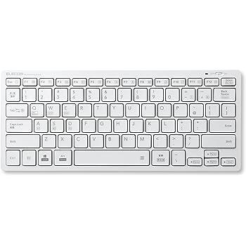 エレコム キーボード  Bluetooth ミニ パンタグラフ 薄型  Windows・Mac・iOS・Android対応 【軽量モデル】 ホワイト TK-FBP102XWH