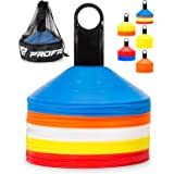 Pro Disc Cones (Set of 50) - Agility Soccer Cones with Carry Bag and Holder for Training, Football, Kids, Sports, Field Cone
