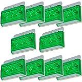 morytrade トラック 用品 マーカー ランプ 24V LED 角 サイド バス アンバー ダウンライト 大型トラック 用 防水 角型 10個 緑 エメナルド グリーン