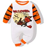 Baby Boys Girls Halloween Outfits Newborn Clothes Baby Jumpsuit Pumpkin Long Sleeve Romper Infant Bodysuit Set