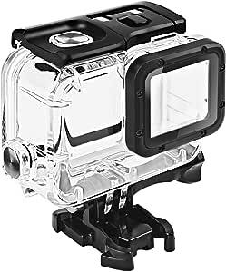 GoPro HERO 7/6/5 Black (2018)ブラック対応 | ダブルロック| 45m水深ダイビング| 防水防塵保護ハウジング| Go Pro Hero7 Hero6 Hero5 アクションカメラ対応 水中撮影用