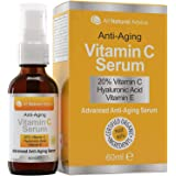20% Vitamin C Serum - Made in Canada - Certified Organic + 11% Hyaluronic Acid + Vitamin E Moisturizer + Collagen Boost - Rev
