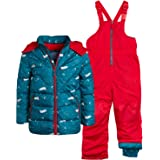 Wippette Boys' 2-Piece Heavyweight Snowsuit with Puffer Jacket and Snow Bib Pants