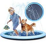 Non-Slip Splash Pad Sprinkler for Kids Toddlers, Kiddie Baby Pool, Outdoor Games Water Mat Toys - Infant Wading Swimming Pool