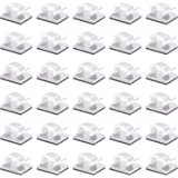50 Pcs Viaky Wire Cord Clips Adhesive Cable Clips Cable Holder Wire Management, Worked Great for Fixing Your Various Wires, N