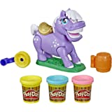 Play-Doh Animal Crew - Naybelle Show Pony Farm Animal Playset - Incl 3 non toxic tubs of dough - sensory and educational craf