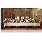 A&T ARTWORK The Last Supper by Leonardo Da Vinci The World Classic Art Reproductions, Giclee Canvas Prints Wall Art for Home