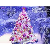 5D Full Drill Diamond Painting Kit DIY Kits for Adults and Beginner Embroidery Arts Craft Christmas Tree 15.7x11.8in 1 Pack b