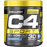 C4 Sport Pre Workout Powder Blue Raspberry | NSF Certified for Sport + Preworkout Energy Supplement for Men & Women | 135mg C