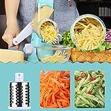 Round Mandoline Drum Slicer Rotary Cheese Grater Veggie Slicer Vegetable Carrot Shredder Nut Chopper Peeler