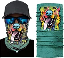 Posmant フェイスマスク 個性的なマスク 動物マスク 防風 防塵 サイクリング スポーツターバン アウトドア バンダナ 多機能チューブ型 男女兼用 春夏秋冬用 (動物E)