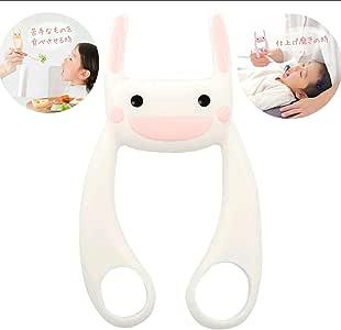(ヘルプマイマム)HELPMYMOM サポうさ イヤイヤ期 仕上げ磨き 離乳食 育児の補助に。(ミルキーホワイト)