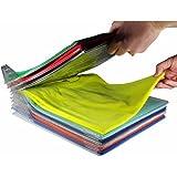 EZSTAX Clothes Organizer T-Shirt Organizer Cabinet Organizer T-Shirt Clothes Rack Closet Board Organizer Folding Storing Fold