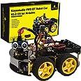 KEYESTUDIO Smart Robot Car Kit V3.0 for Arduino IDE with Board, Line Tracking Module, Ultrasonic Sensor, IR Module, Intellige