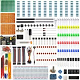 WayinTop Electronics Component Fun Kit w/E-Book, Upgraded Electronic Starter Kit with Breadboard Jumper Wires Kit, PCB Solder