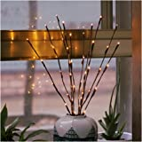 2 Pack Branch Lights - Led Branches Battery Powered Decorative Lights Tall Vase Filler Willow Twig Lighted Branch for Home De