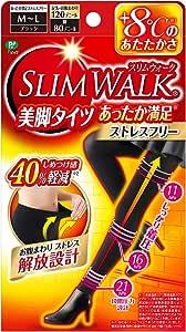 ピップ スリムウォーク (SLIM WALK) 美脚タイツ あったか満足 ストレスフリー M~Lサイズ ブラック おそと用 着圧