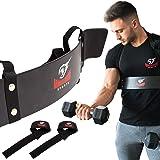 Armageddon Sports Premium Arm Blaster Biceps Isolator + Bonus Weight Lifting Straps, Heavy Duty Bicep Blaster Curl Support Mu