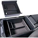 JDMCAR Center Console Organizer Compatible with Toyota 4Runner (2010-2019 2020 2021), Insert ABS Black Materials Tray, Armres