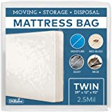 Mattress Protector - Twin Size Thick Plastic Moving Cover, Transport, Disposal and Storage Bag - 2.5 mil Heavy Duty Reusable