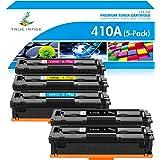 True Image Compatible Toner Cartridge Replacement for HP 410A CF410A CF411A CF412A CF413A Laserjet Pro M477fnw M477fdw M477fd