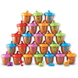 Learning Resources Alphabet Acorns Activity Set, Homeschool, Visual & Tactile Learning Toy, 78 Pieces, Easter Basket Gifts,