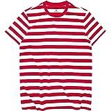 Zengjo Essential Stripes T-Shirts Comfort Short-Sleeve Crew-Neck Striped Tee Top